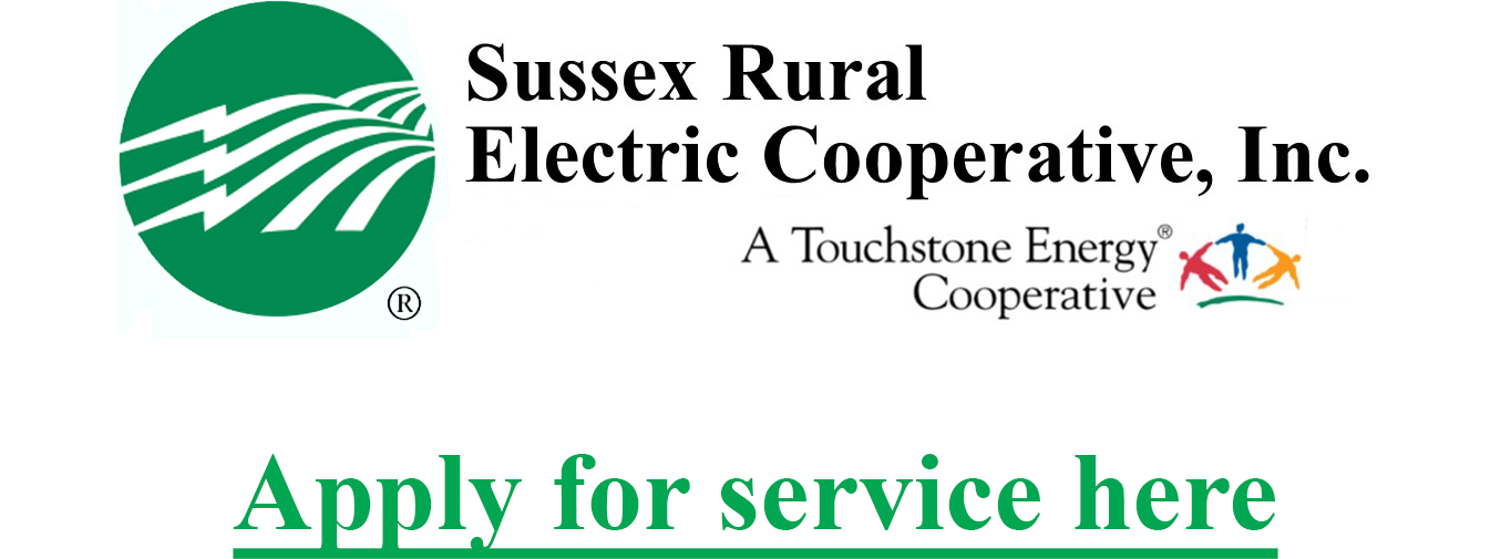 Sussex Rural Electric Cooperative - Apply for service here
