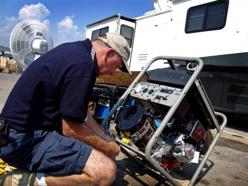 Always strictly follow manufacturer's guidelines when operating a generator