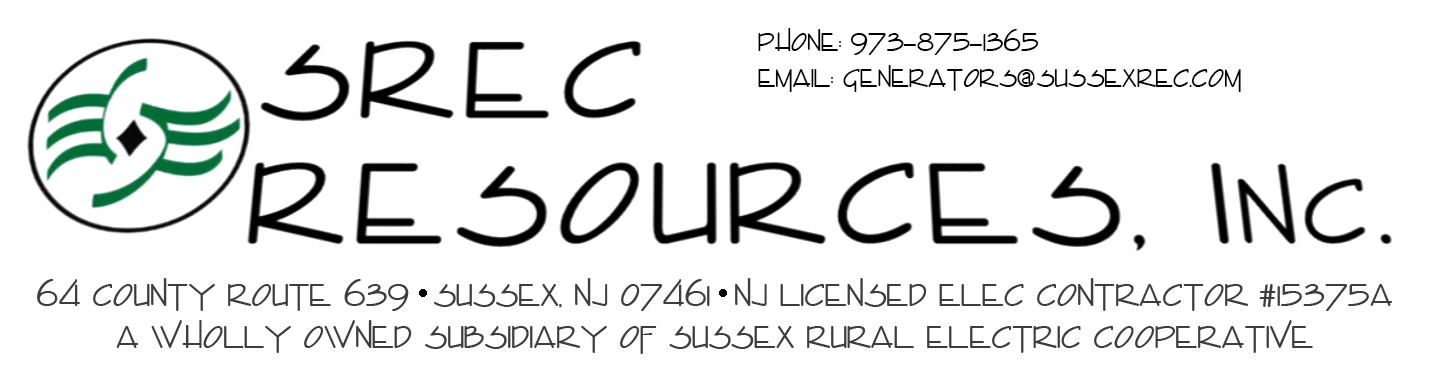 SREC Resources, NJ Licensed Elec. Contractor #15375A