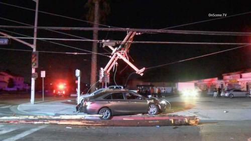 If a power line falls on your car, stay in the vehicle! You are a part of the circuit and are safe from electrocution while you wait for assistance