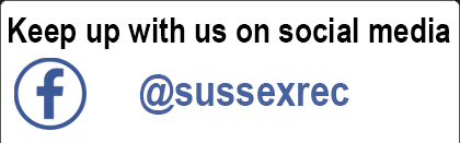 Like and follow us on Facebook - @sussexrec