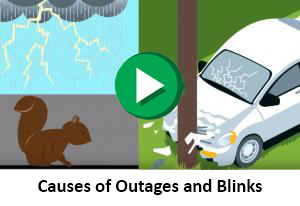 Causes of Outages and Blinks