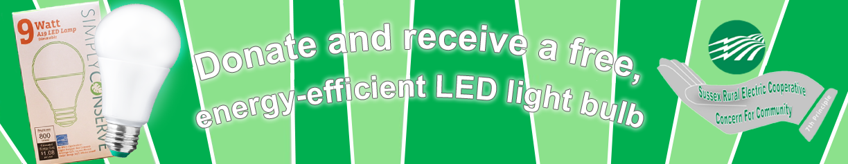 Donate and Receive a Free LED Light Bulb